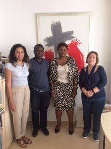 La presidenta del Col·legi d'Infermeria de Sierra Leone visita el Campus Docent