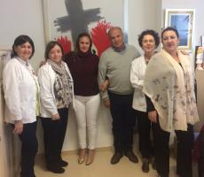 Representants de les escoles d'infermeria de Sant Joan de Déu de Colòmbia visiten el Campus Docent