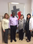 Visita del Germà Michael Koroma, director de l'Hospital i l'Escola d'Infermeria de Mabesseneh